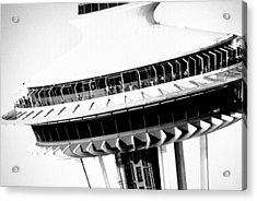 Seattle Space Needle Close Up Acrylic Print by Amy Giacomelli