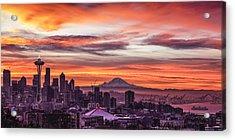 Seattle Sunrise Acrylic Print