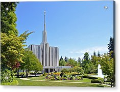 Seattle Temple - Horizontal Acrylic Print