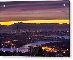 Seattle Twilight Acrylic Print by Thorsten Scheuermann