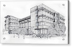 Seattle University Law School Acrylic Print by Inger Hutton