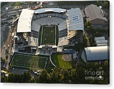 Seattle With Aerial View Of The Newly Renovated Husky Stadium Acrylic Print