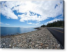 Acrylic Print featuring the photograph Seawall - Acadia by Kirkodd Photography Of New England