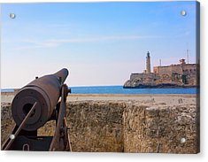 Seawall With El Morro Fort, Havana Acrylic Print by Keren Su