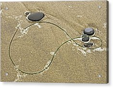 Acrylic Print featuring the photograph Seaweed Sand And Stones by Judi Baker