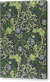 Seaweed Wallpaper Design Acrylic Print by William Morris