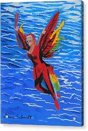 Seaworld Acrobat Acrylic Print