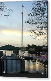 Acrylic Print featuring the photograph Seaworld Skytower by David Nicholls