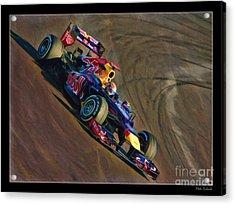 Sebastian Vettel - Red Bull Acrylic Print
