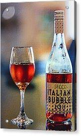 Secco Italian Bubbles Acrylic Print by Bill Tiepelman