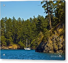 Secluded Anchorage Acrylic Print by Chuck Flewelling