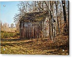 Secluded Barn Acrylic Print by Greg Jackson