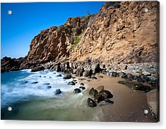 Secluded Beach Cove Acrylic Print