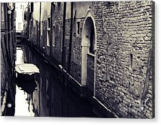 Secluded Canal In Venice Acrylic Print by Ernst Cerjak