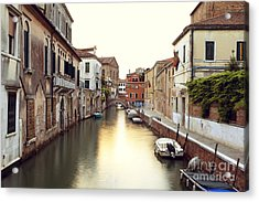 Secluded Canal In Venice Italy Acrylic Print by Ernst Cerjak