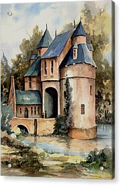 Secluded Castle Acrylic Print by Sam Sidders