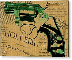 Second Amendment Acrylic Print by ABA Studio Designs