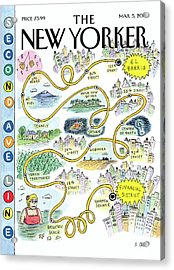 Second Avenue Line Acrylic Print by Roz Chast