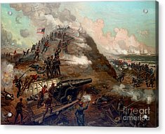 Second Battle Of Fort Fisher Acrylic Print