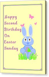 Second Birthday On Easter Acrylic Print by Rosalie Scanlon