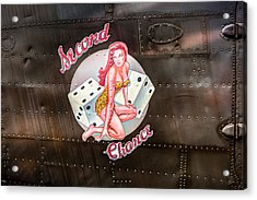 Second Chance - Aircraft Nose Art - Pinup Girl Acrylic Print