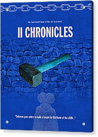 Second Chronicles Books Of The Bible Series Old Testament Minimal Poster Art Number 14 Acrylic Print by Design Turnpike