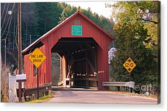 Second Covered Bridge. Acrylic Print