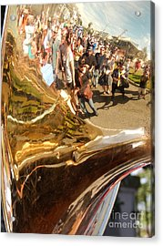 Second Line Tuba Acrylic Print by Michael Hoard