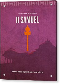 Second Samuel Books Of The Bible Series Old Testament Minimal Poster Art Number 10 Acrylic Print
