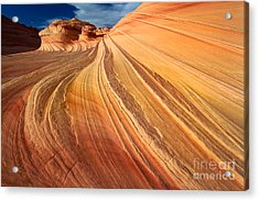 Second Wave Surf Acrylic Print by Inge Johnsson