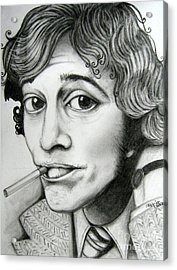 Acrylic Print featuring the drawing Robin Gibb by Patrice Torrillo