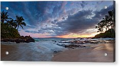Secret Beach Pano Acrylic Print