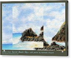 Secret Beach Sky Details Acrylic Print by Kenneth Grzesik