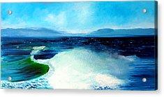 Secret Beach Surf Art Acrylic Print