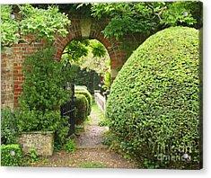 Secret English Garden Acrylic Print by Ann Horn