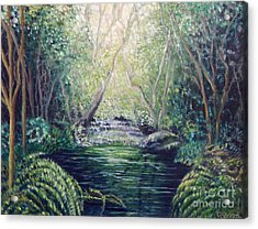 Secret Forest Pool Acrylic Print
