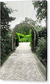 Secret Garden Acrylic Print by Andrea Dale