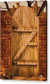 Secret Garden Gate Acrylic Print by Penny Hunt