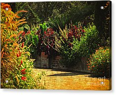 Acrylic Print featuring the photograph Secret Garden Path by Kathy Baccari