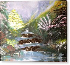 Acrylic Print featuring the painting Secret Garden by Vanessa Palomino