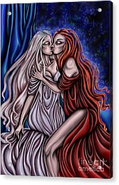 Secret Kisses Acrylic Print by Coriander  Shea
