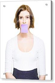 Secret Message Of Unspoken Words Acrylic Print by Jorgo Photography - Wall Art Gallery