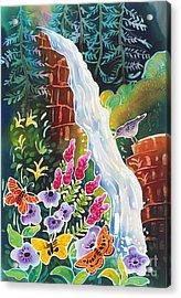 Secret Waterfall Acrylic Print by Harriet Peck Taylor