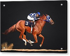 Secretariat And Turcotte Acrylic Print by GCannon
