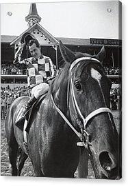 Secretariat Vintage Horse Racing #04 Acrylic Print by Retro Images Archive