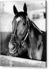 Secretariat Vintage Horse Racing #18 Acrylic Print by Retro Images Archive
