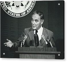 Secretary Haig Holds Press Conference Acrylic Print by Retro Images Archive