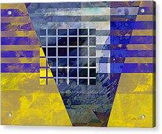 Secrets - Abstract Art Acrylic Print by Ann Powell