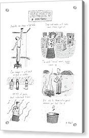 Secrets Of Adulthood Acrylic Print