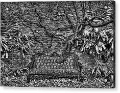 Secrets Of The Garden Bw Acrylic Print